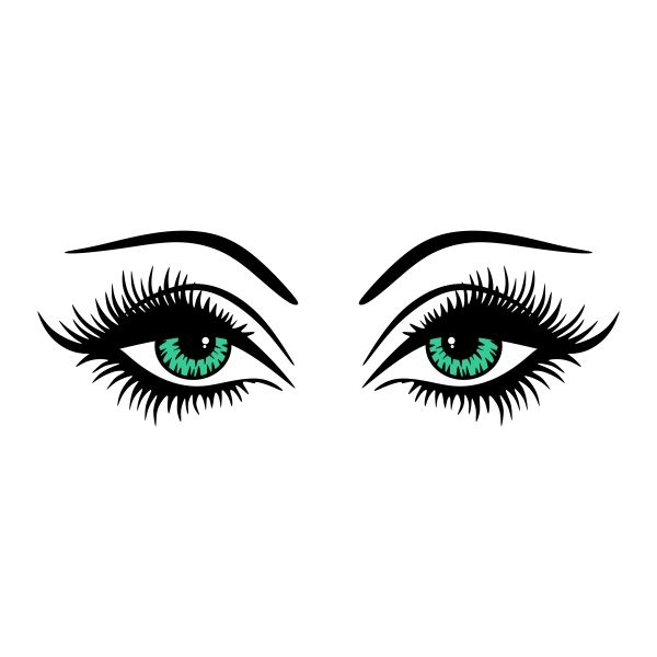 Pin by CuttableDesigns on Fashion | Eyes clipart, Lashes ...