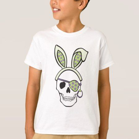 Green Pirate Skull Tee - click/tap to personalize and buy