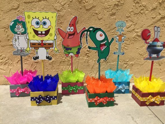 Spongebob Squarepants Patrick Squidward Sandy Cheeks by FalconArte