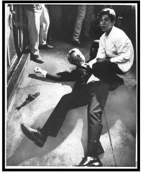 article on Juan Romero, the busboy who knelt at Bobby Kennedy's side on June 5, 1968, when he was shot at the Ambassador Hotel in Los Angeles.