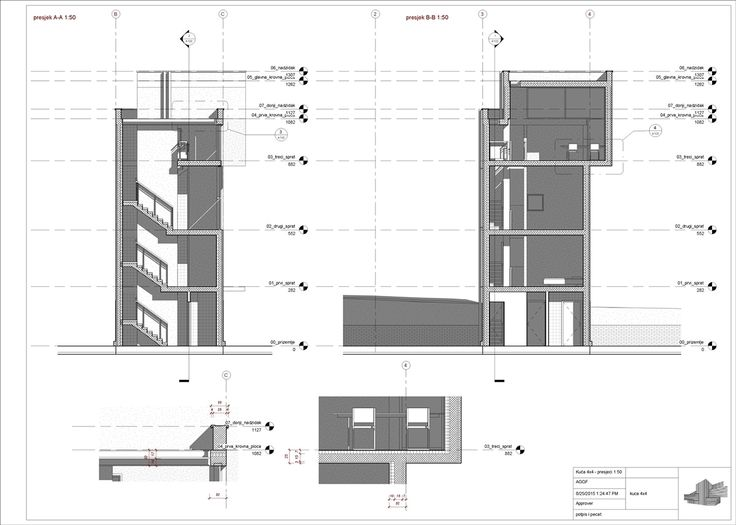 DAP - Revit Architecture - Tadao Ando - House 4x4 on Behance