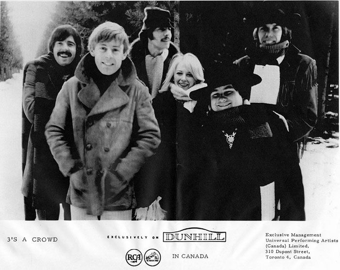 3's a Crowd 1967, l-r: Trevor Veitch, David Wiffen, Brent Titcomb, Donna Warner, Richard Patterson and Ken Koblun The vibrant music scene that existed in Canada during the '60s has rarely been given the exposure it merits. Undoubtedly, the Canadian music industry must shoulder much of the blame. http://www.garagehangover.com/3sacrowd/