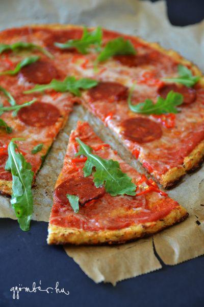 Gluténmentes pizza karfiolból
