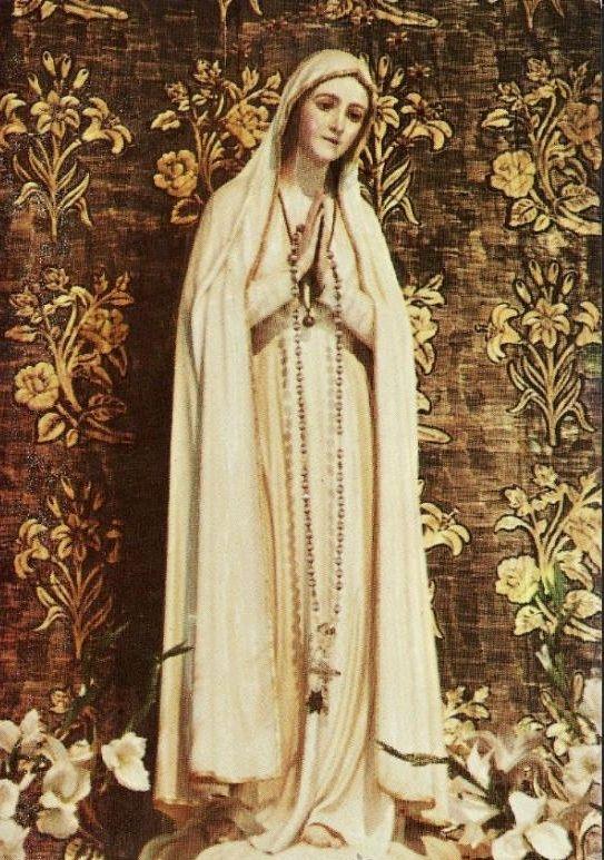 Virgen de Fatima The statue Mary in the shrine of Our Lady of Fatima inLancha de Genil in Granada, Spain.