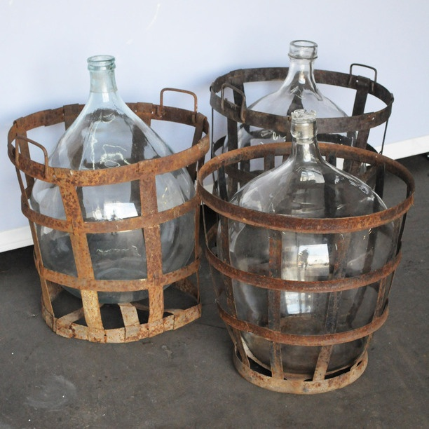Glass Carboys with original stands, WANT!