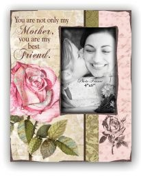 PHOTO FRAME: FLOWER Inspirational photo frame with easel back. Frame size: 197 x 250 mm. Photo size: 100 x 150 mm. Available from CUM Books in South Africa.