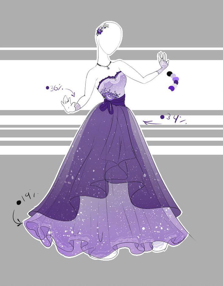 Рисунки аниме в платье