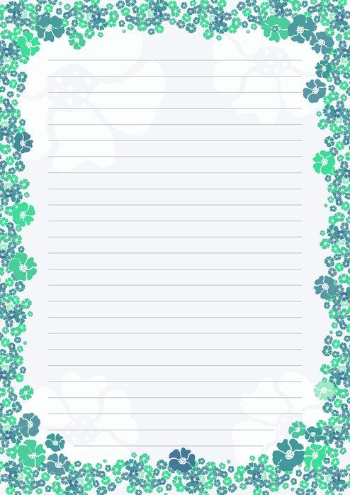 Borboleta Azul: Papéis De Carta