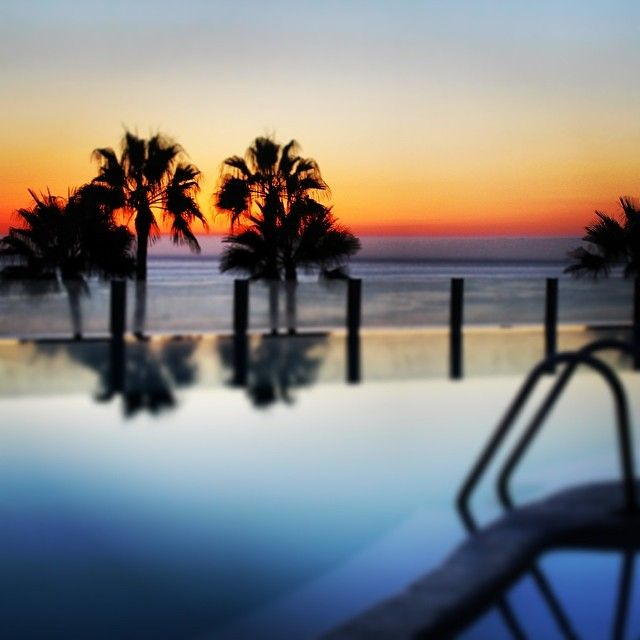 Sunset - Gran Canaria - Riu Vistamar - infinity pool - Spain - Summer holidays