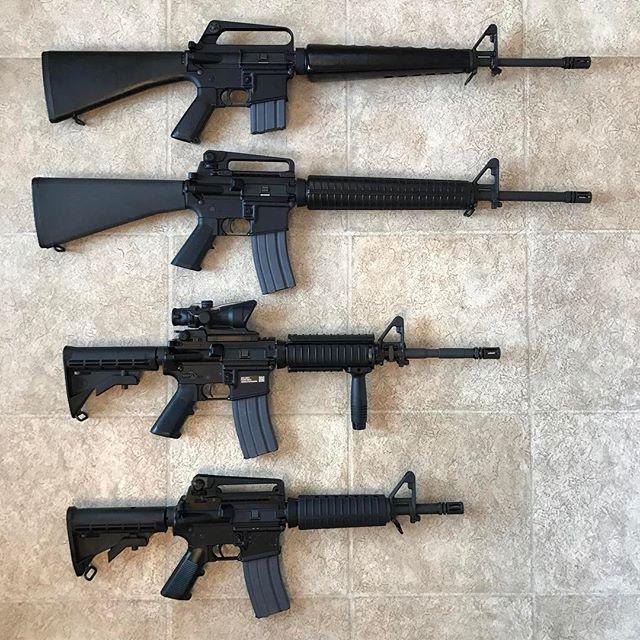 An awesomely foursome to end Friday evening. #ar15 #m4 #m16 #commando #m16andpregnant #gun #guns #gunporn #gunchannels #firearms #rifle #rifles #kansas #kansascity #kansasbrit #usa #america #nra #nfa #molonlabe #donttreadonme #sbr #friday