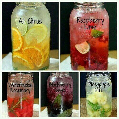 Detox water mixtures