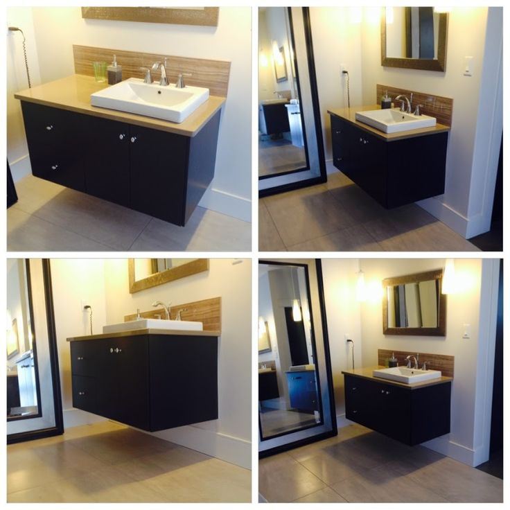 Beautiful Modern Floating Vanity! @progressivecabinets @Station12