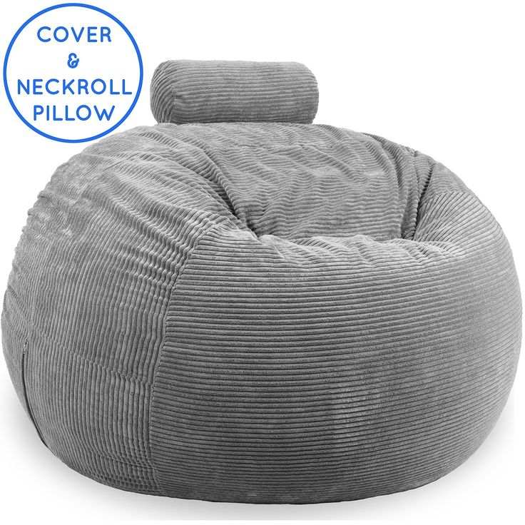 Premium 4 Feet Replacement Cover Stuffed Neckroll Pillow In Morning Silver