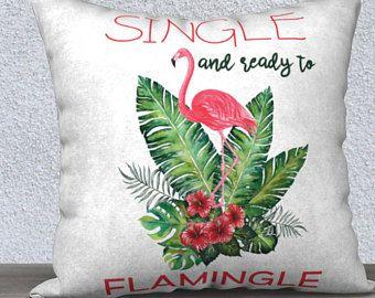 Housse de coussin, Flamand Rose, Coussin housse, taies d'oreiller, oiseau, rose, coussins, housses de coussin, oreillers décoratifs,