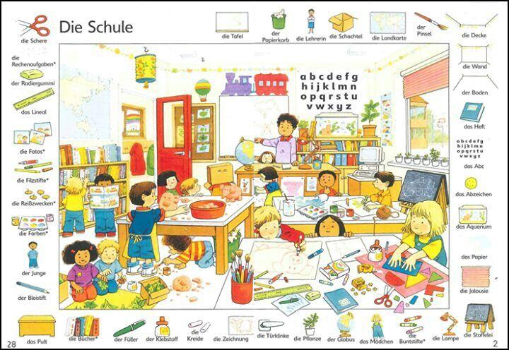 Vokabel-Bild: Die Schule (School)