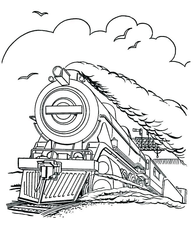 Polar Express Coloring Pages Papir Es Vonat