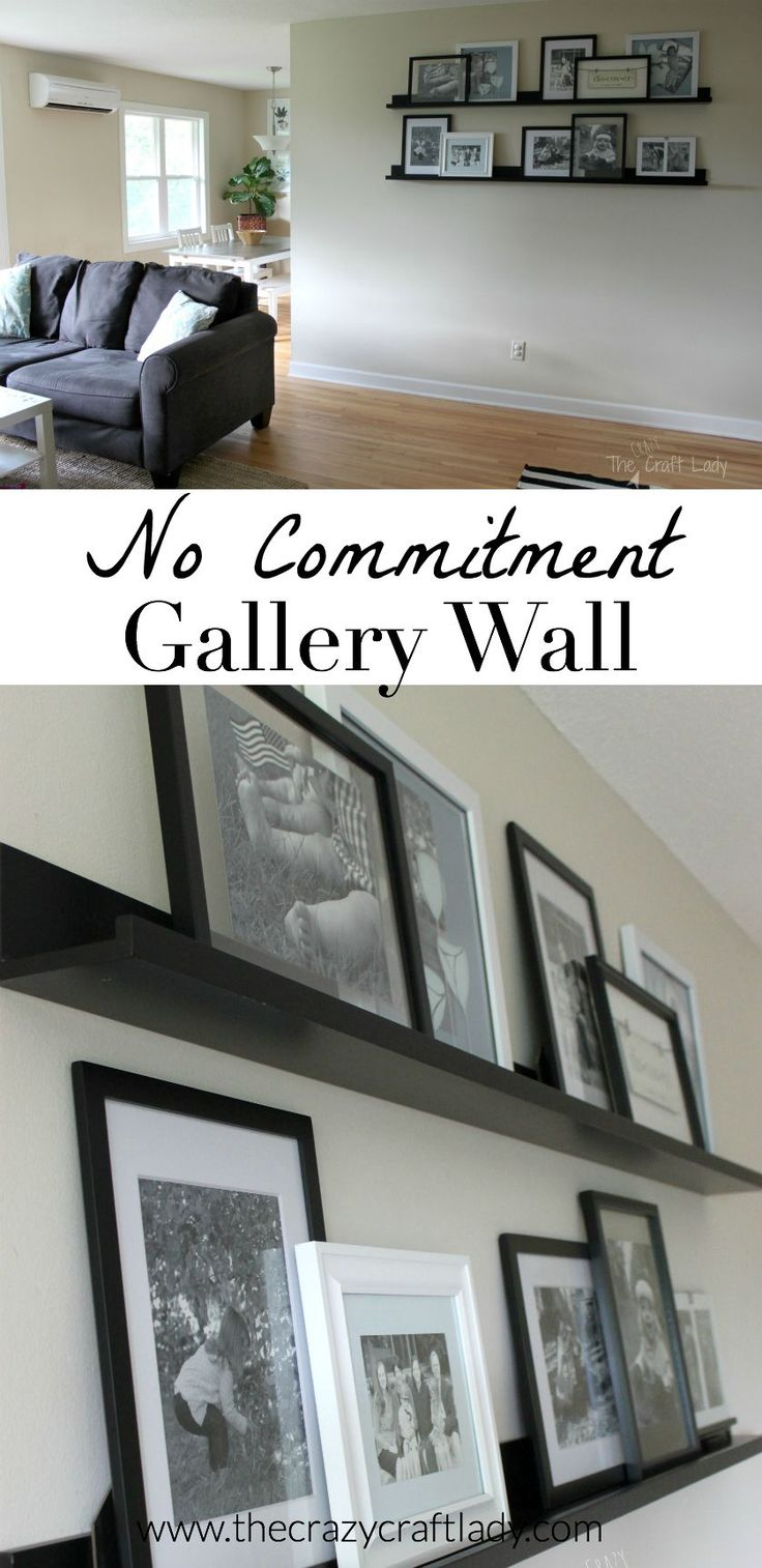 To Hang Pictures Without Nails Part - 25: Creating A No Commitment Gallery Wall. Hanging Pictures Without NailsNail  ...