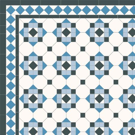 London Mosaic Victorian Tile Design Hallington Multi