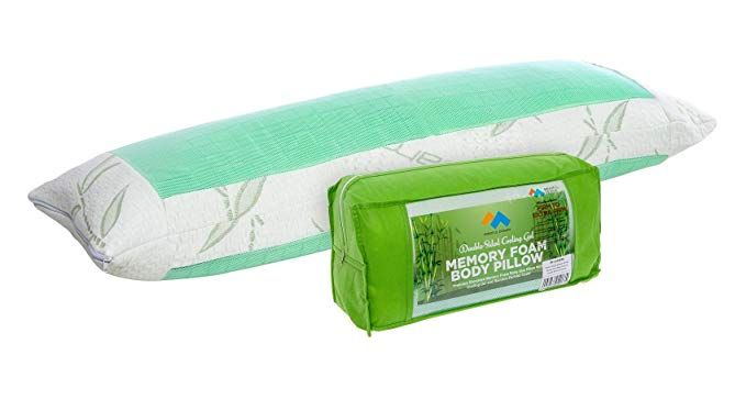 Amazon Com Mindful Design Memory Foam Cooling Body Pillow Firm