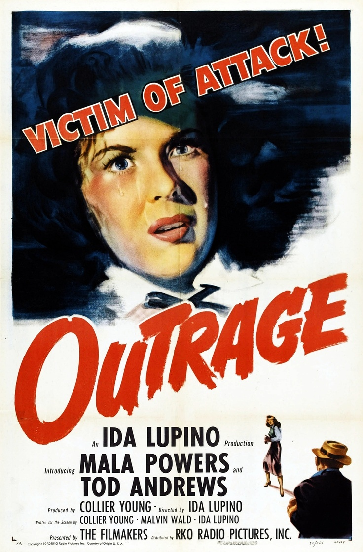 Outrage - Ida Lupino - 1950 - starring Mala Powers and Tod AndrewsMovie Posters, Shadows Film Noir, Ida Lupino, Long Shadowsfilm, Outrageous 1950, Mala Power, Stars Mala, Outrageous Posters, Shadowsfilm Noir