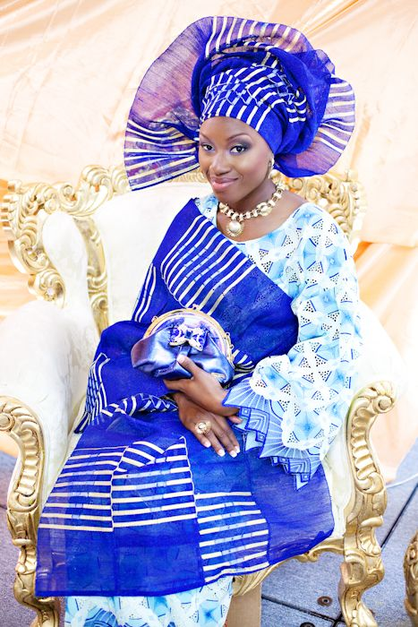 Traditional African attire- blue