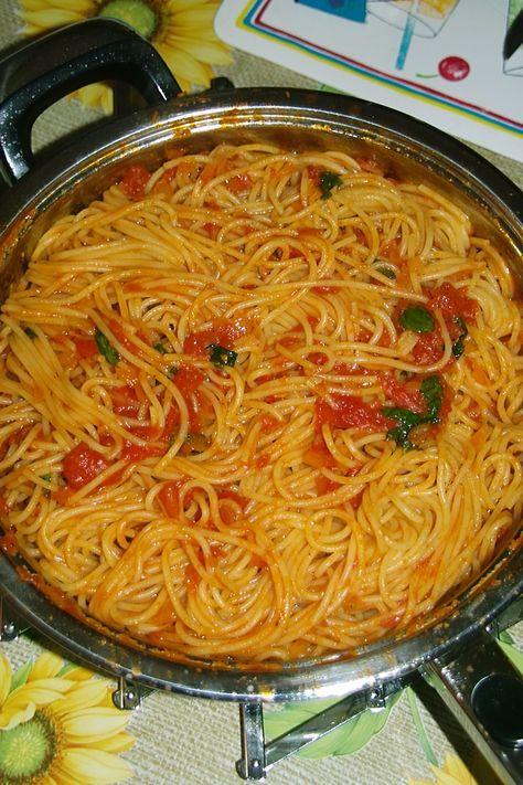 Original italienische Spaghetti Napoli