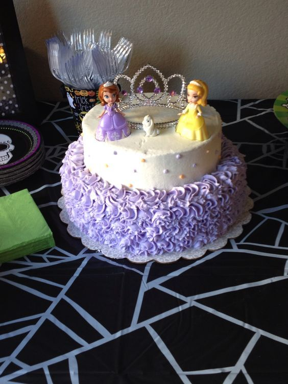 Sofia the first birthday cake: