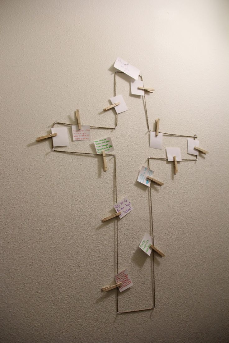 Prayer at the cross. Great idea for a prayer room.