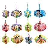 Disney Tinkerbell and Fairies Plastic Necklaces - 12ct
