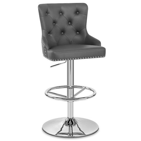 Fabulous Manor Bar Stool Grey Leather In 2019 Bar Stools Grey Caraccident5 Cool Chair Designs And Ideas Caraccident5Info