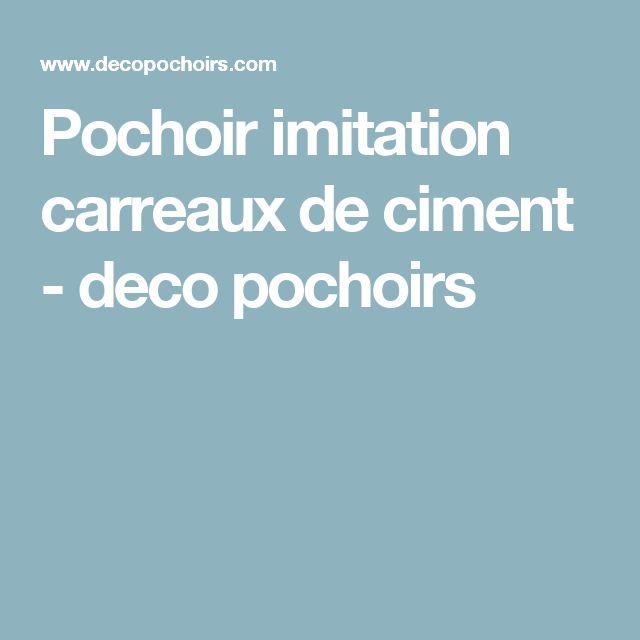 pochoir imitation carreaux de ciment deco pochoirs. Black Bedroom Furniture Sets. Home Design Ideas