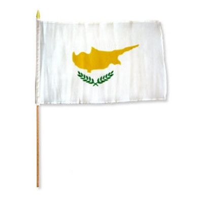 FlagsImporter Cyprus Traditional Flag and Flagpole Set
