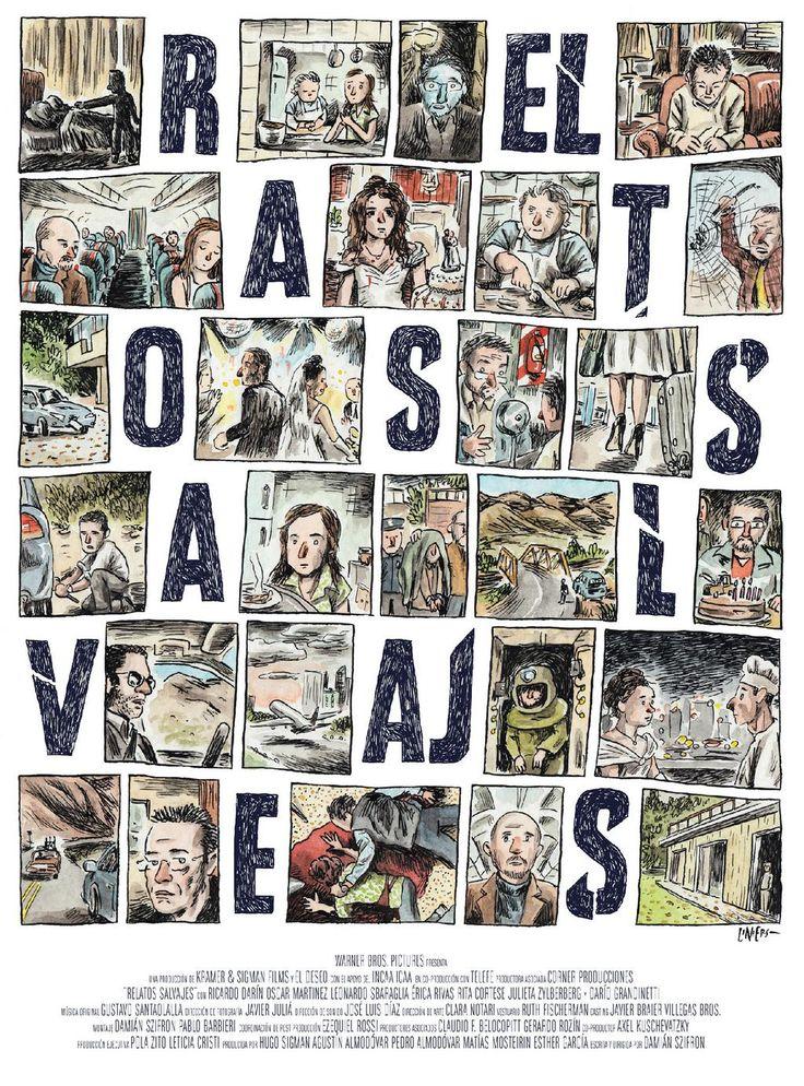 Poster para Relatos Salvajes (Wild Tales) por Liniers @porliniers