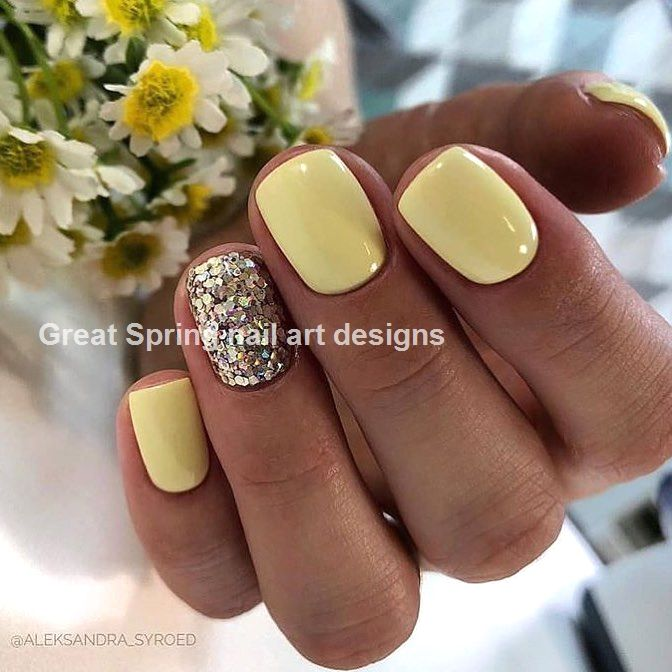 20 Great Spring Nail Designs 2019 Glitter Gel Nails Glitter Gel