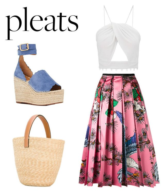"""pleats"" by geopaganeli on Polyvore featuring Chloé, Gucci and Ermanno Scervino"