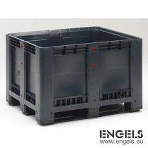 Boxpallet op 3 sleden, 1200x1000x780 mm, 610 ltr, recycle PP