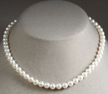 White Freshwater Pearl Necklace,LUX Pearl Necklace 9-10mm,real pearl…