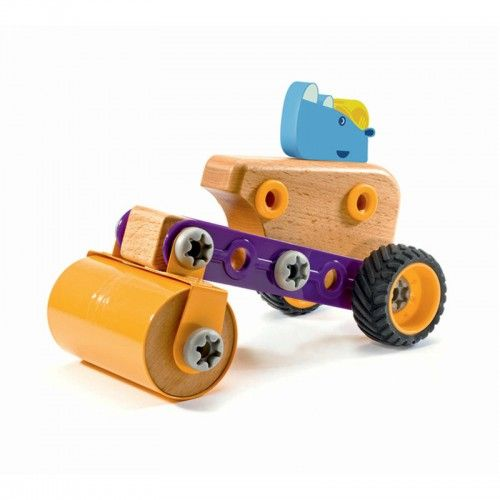 Let the animals do all the work! 	Zooblock is a new range of toys made of high quality, sturdy materials. So easy to assemble and the perfect size for small hands. These toys can be mixed, assembled and disassembled in any infinite variety of ways. 	There are 20 pieces in the Rhino Roll set.