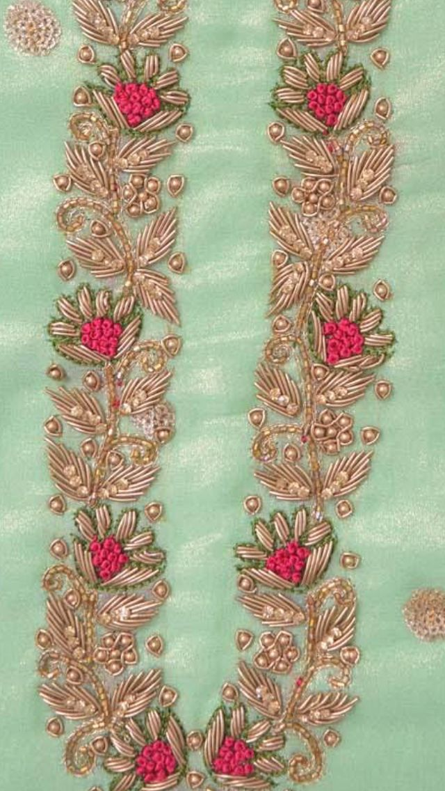 Hand embroidery on punjabi suit