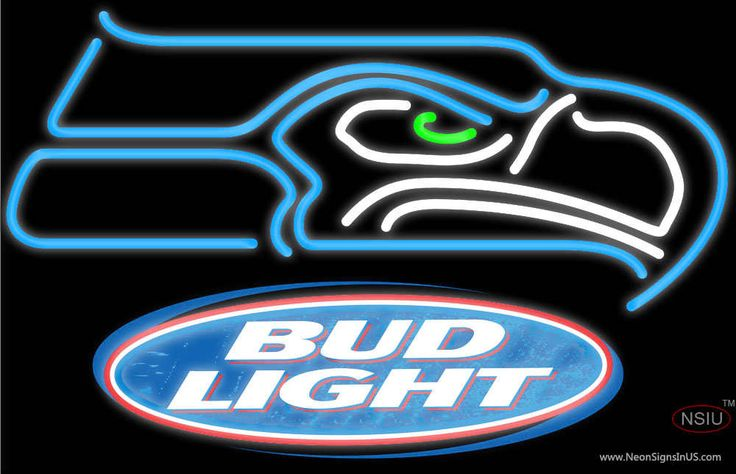 Bud Light Seattle Seahawks NFL Real Neon Glass Tube Neon Sign,Affordable and durable,Made in USA,if you want to get it ,please click the visit button or go to my website,you can get everything neon from us. based in CA USA, free shipping and 1 year warranty , 24/7 service