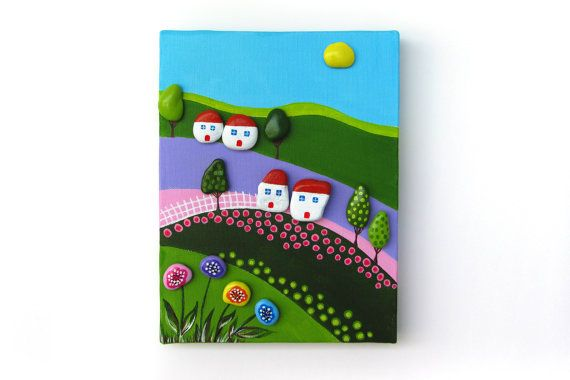 acrylic painting on canvas stone painting by CanitinLivingStones