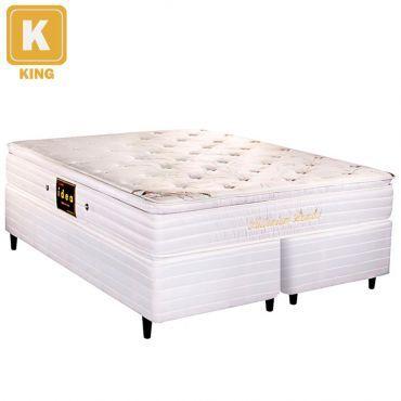 [RicardoEletro] Cama Box King + Colchão Millenium Bambu Mola R$ 1189,91 10x Frete0800