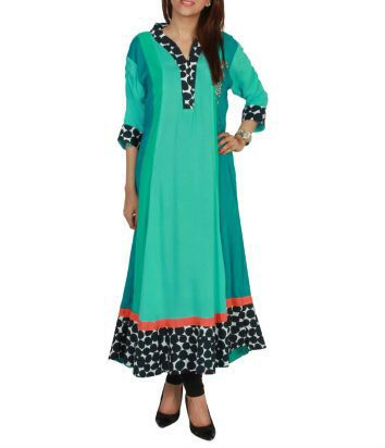 new pakistani designer long #kurtis 2013