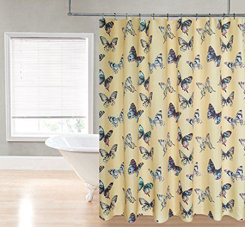"Regal Home Collections Mariposa Printed 70"" Wide by 72"" Long Fabric Shower Curtain, Yellow/Gold/Multicolor Regal Home Collections http://www.amazon.com/dp/B0171NOWM0/ref=cm_sw_r_pi_dp_V42Bwb01YDQM4"