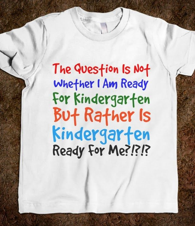 is kindergarten ready for me? Soo true, not sure if anyone is ever really ready for Anna