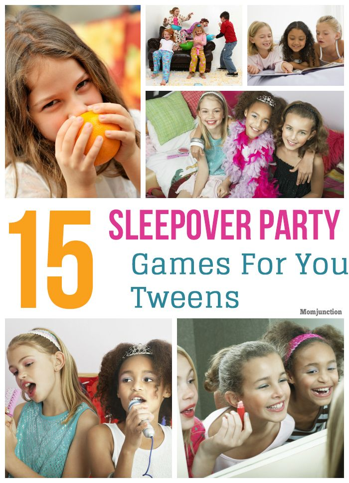 15 Awesome Sleepover Party Games For Your Tweens: most tweens like to keep themselves entertained, it will be great if you could plan a few activities for them.