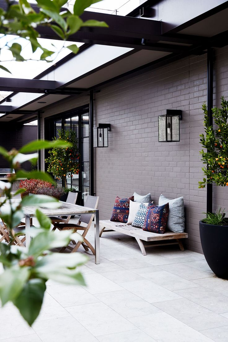 Outdoor area from period Melbourne home transformed with sophisticated style. Photography: Sean Fennessy | Styling: Lucy McCabe | Story: Belle