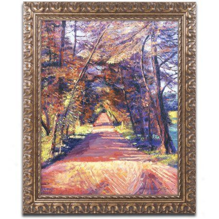Trademark Fine Art Southern France Country Canvas Art by David Lloyd Glover, Gold Ornate Frame, Size: 16 x 20