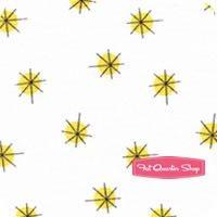 Backyard Circus Yellow Dot Cross Yardage <br/>SKU
