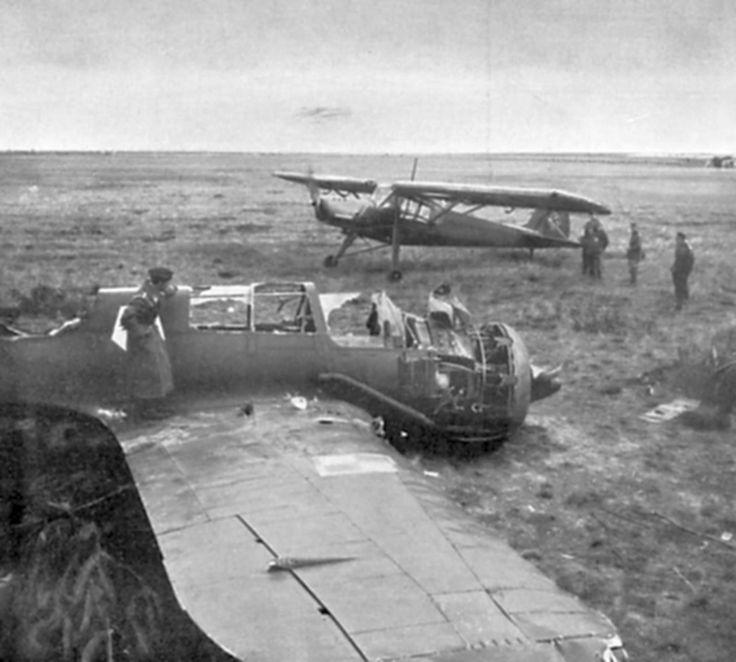 Polish PZL.23 Karaś and German Fieseler Fi-156 «Storch»  http://albumwar2.com/polish-pzl-23-karas-and-german-fieseler-fi-156-storch/